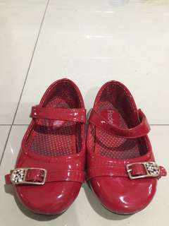 Fladeo Red Shoes Anak ukuran 25 sole dalam 15 cm