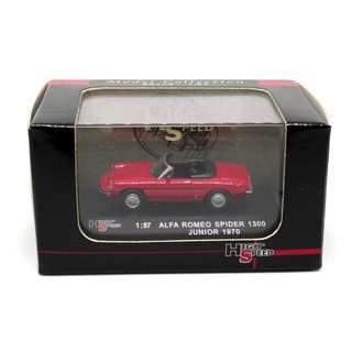 High Speed 1:87 ALFA Romeo Spider 1300 Junior 1970 紅色超精緻金屬模型車