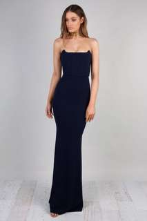 ZACHARY THE LABEL ELVIRA GOWN NAVY SIZE S