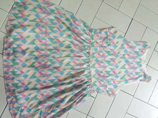 Cute zigzag babydoll dress