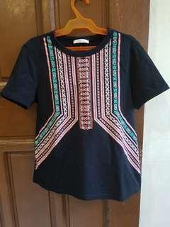 Zara T-shirt Aztec Design