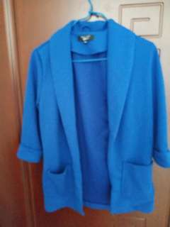 A blue air..con jacket for Summer or Autumn wear.  Size for  slim girl