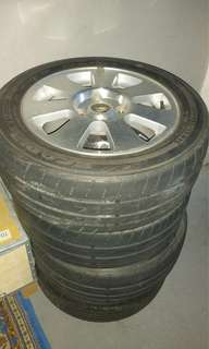 Rim and tyre old Waja