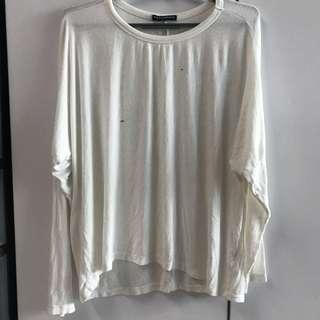 ✨bnwot white knit sweater top brandy Melville