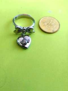 1989年 東京迪士尼 米奇老鼠 MICKEY 心型吊飾 戒指 指環 可調較圈濶