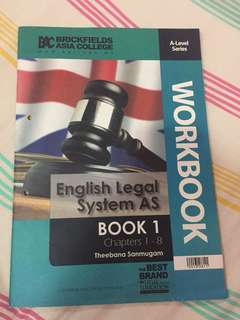 English legal system As workbook