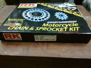 RK LC135 SPROCKET SET