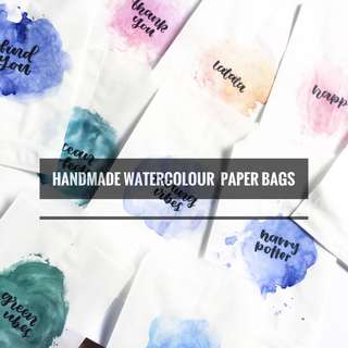 Watercoloured Paper Gift Bags