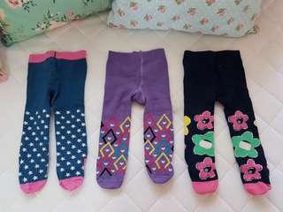 Baby pants with socks