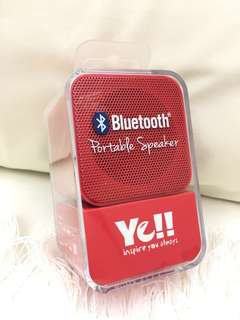 Ye!! Bluetooth Portable Speaker Red