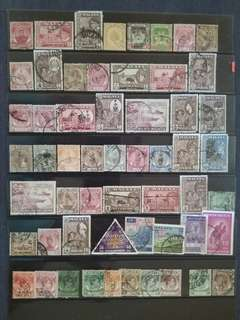 Mix Collection & Best Selection Of Malaya - 56v Used Stamps All Different #1