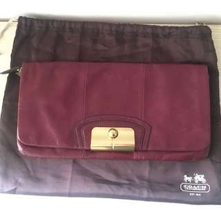 Coach purple clutch bag