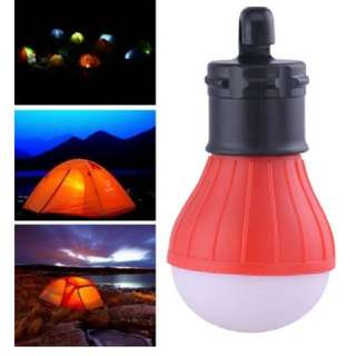 Outdoor Hanging LED Camping Tent Light Bulb Fishing Lantern Lamp, Red