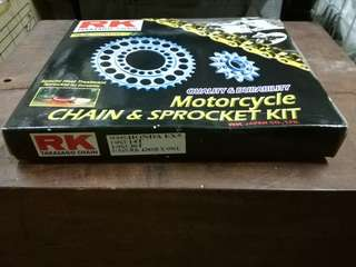 RK EX5 SPROCKET SET