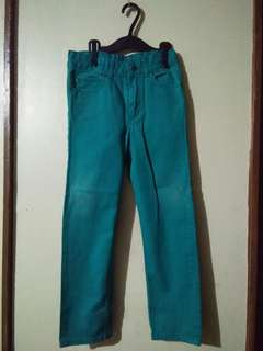 H&M Blue green pants adjuste for girls 7 to 8yrs.old