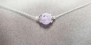 薰衣草紫水晶 x 純銀鎖骨鏈