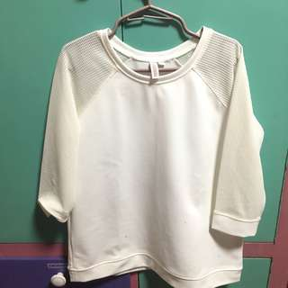 Penshoppe white long sleeve top