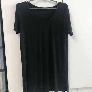 ✨bnwot black knit shirt brandy melville
