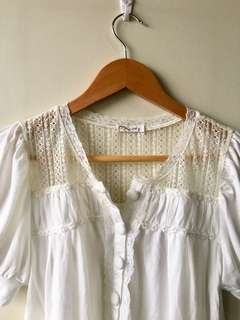 JUST G Lace Cotton Top