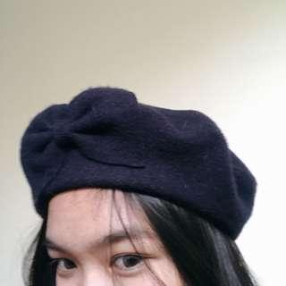 Beret Hat — Navy (topi beret navy)