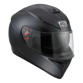 AGV K3 K-3 SV SIZE LARGE ONLY Motorcycle Motorbike Superbike Racing Helmet Gloss Shiny Black