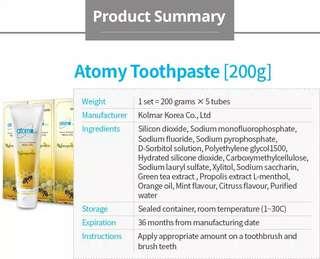 Atomy toothpaste