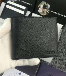 Prada Mens Black Wallet