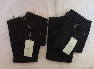 BERSHKA HW Denim Pants