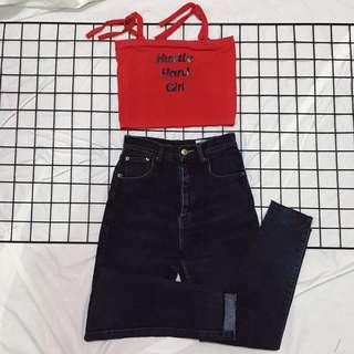 tube top + hw jeans