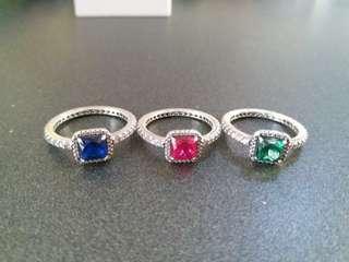Pandora rings set送首飾盒