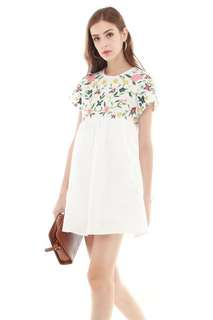 ACW Embroidery Romper Dress - White