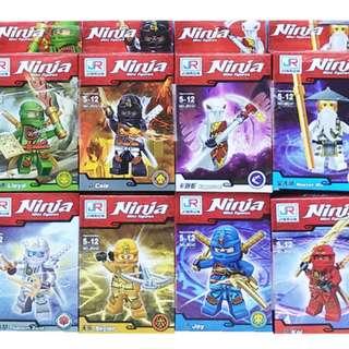 Mainan Lego Block BLOCKS NINJA RED ISI 8 - JR747