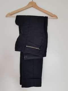 Black work pants slim fit