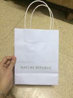 Paper bag nature republic