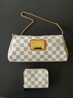 LV Damier Azur Eva Zippy Coin purse (wallet only)