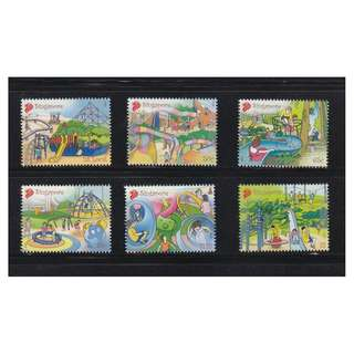 SINGAPORE 2010 PLAYGROUNDS COMP. SET OF 6 STAMPS IN MINT UNUSED CONDITION