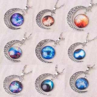 Cresent Moon Necklace (Glow in the Dark)