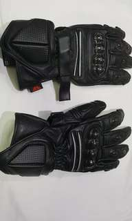 Brand New Torque Motorcycle Gloves Size Large Black Leather