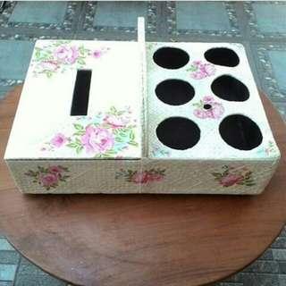 Kotak tisu&tempat air mineral