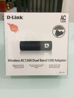 D-Link Wireless AC1200 Dual Band USB Adapter ( DWA-182 )