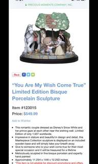 """Precious Moment - """"You Are My Wish Come True"""" Limited Edition Bisque Porcelain Sculpture"""