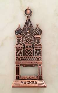 Russian 3D decorative metal bottle opener