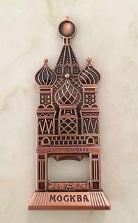 Russian 3D decorative metal bottle opener
