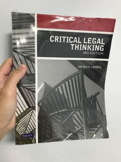 Critical Legal Thinking (3rd edition)