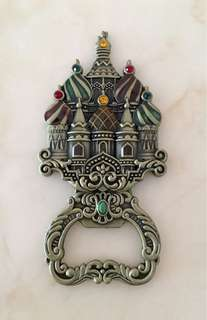 Russian decorative metal bottle opener fridge magnet