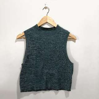 H&M Knitted Olive Green Top