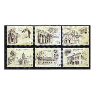 SINGAPORE 2010 NATIONAL MONUMENTS COMP. SET OF 6 STAMPS IN MINT MNH UNUSED CONDITION