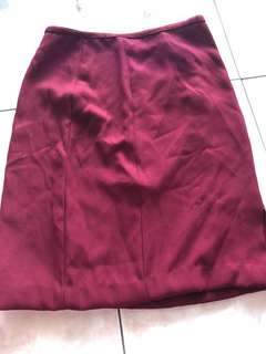 Maroon Formal Skirt