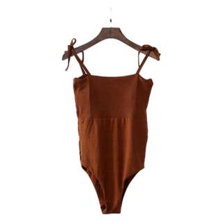 Ianna One Piece Swimsuit in Brown