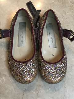 Stella MsCartney Girl sparkly shoes size 25